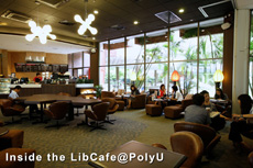 Inside the LibCafe@PolyU