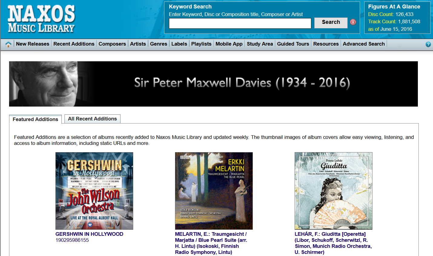 Naxos Online Music Library
