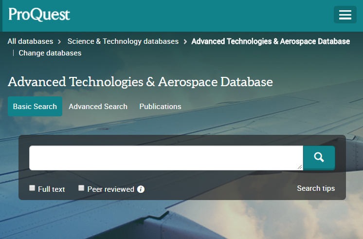 Advanced Technologies & Aerospace Database (via ProQuest)