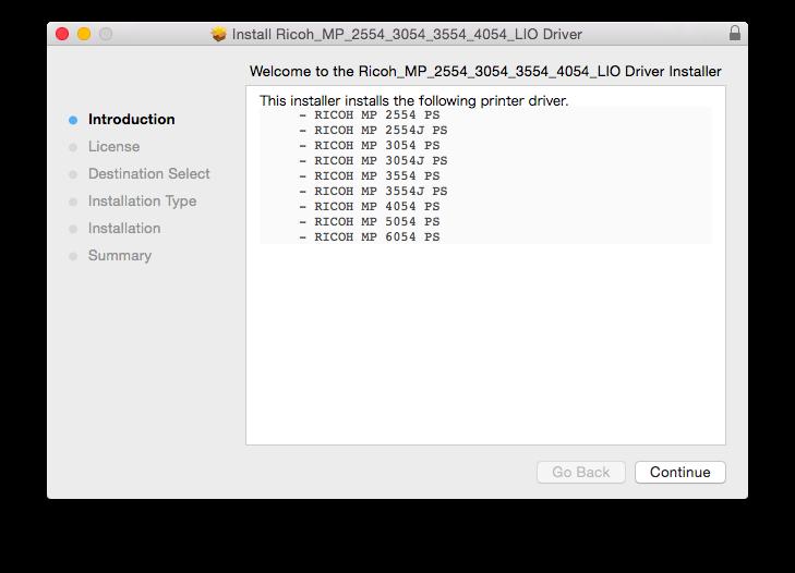 Ricoh Macintosh B/W Printer Driver Installation Manual   Pao
