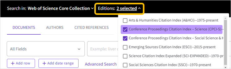 Web of Science CPCI