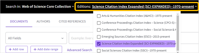 Web of Science SCIE