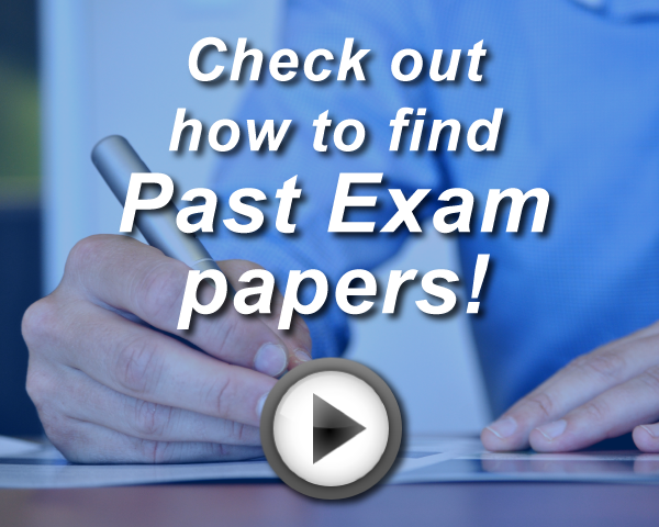 Access how to video on using Examination paper database